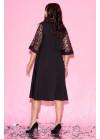 Платье миди с кроп-топом и рукавами клёш
