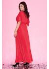 Платье макси с рукавами-кимоно красного цвета