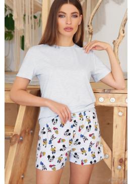 Пижамный комплект Джой2, голубой-Микки Маус