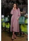 Лиловое платье миди Айшат из нежного атласного сатина
