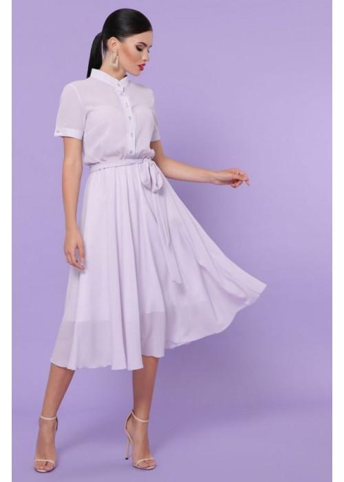 Воздушное шифоновое платье нежного лавандового цвета