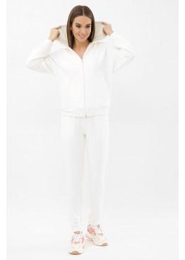 Трикотажный спортивный костюм Фая, молочный