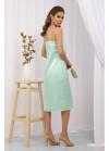 Платье миди в бельевом стиле Росава на бретелях, мята