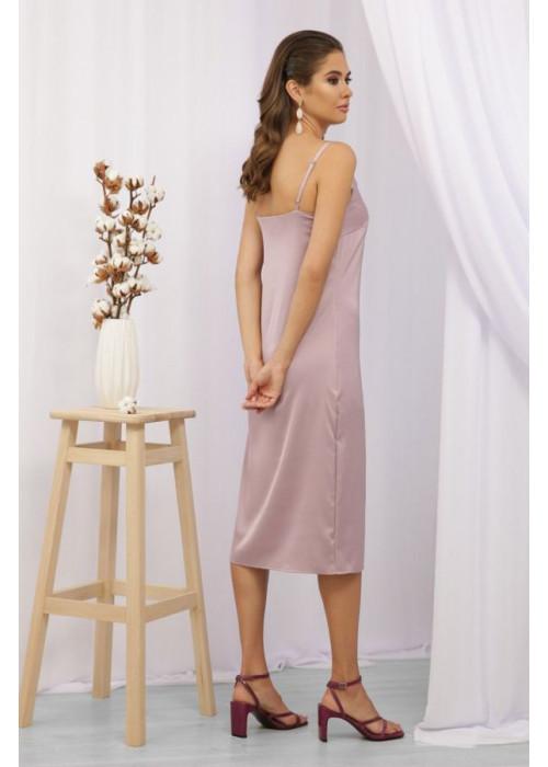 Платье миди в бельевом стиле Росава на бретелях, лиловый