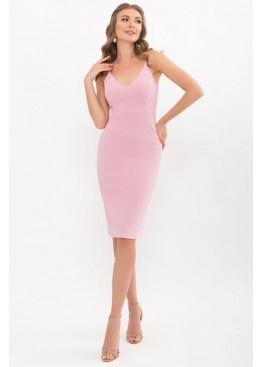 Приталенное платье на тонких бретелях, лиловый