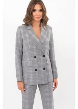 Классический пиджак прямого кроя Элейн, черно-белая клетка