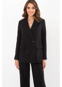 Классический пиджак прямого кроя Элейн, черный