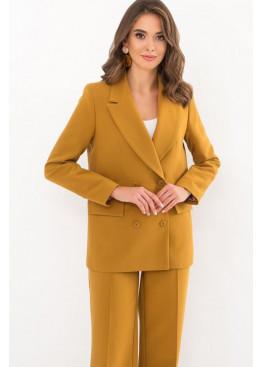Классический пиджак прямого кроя Элейн, горчичный