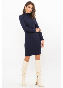 Платье-гольф короткое Алена2, синий