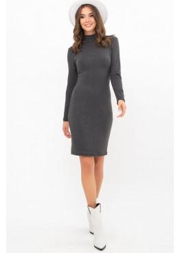 Платье-гольф короткое Алена2, тёмно-серый