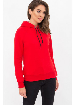 Теплый свитшот с капюшоном Эмиль, красный