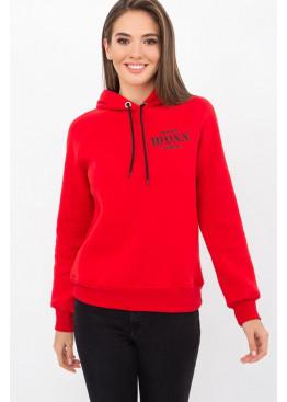 Теплый свитшот с капюшоном Эмиль-П, красный