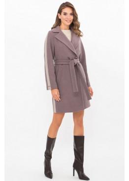 Женское пальто полуприталенного силуэта П-425-90, т.лиловый