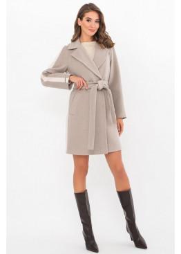 Женское пальто полуприталенного силуэта П-425-90, св.серый