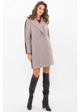 Женское пальто полуприталенного силуэта П-425-90, серый