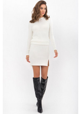 Теплый повседневный костюм Алинда-1, белый