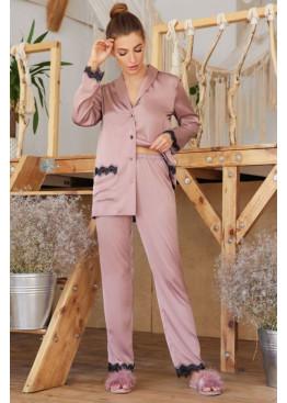 Шёлковые штаны с кружевом Долорес, фрез