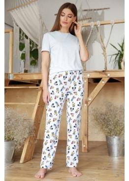 Пижамный комплект с брюками Джойс2, голубой-Микки Маус