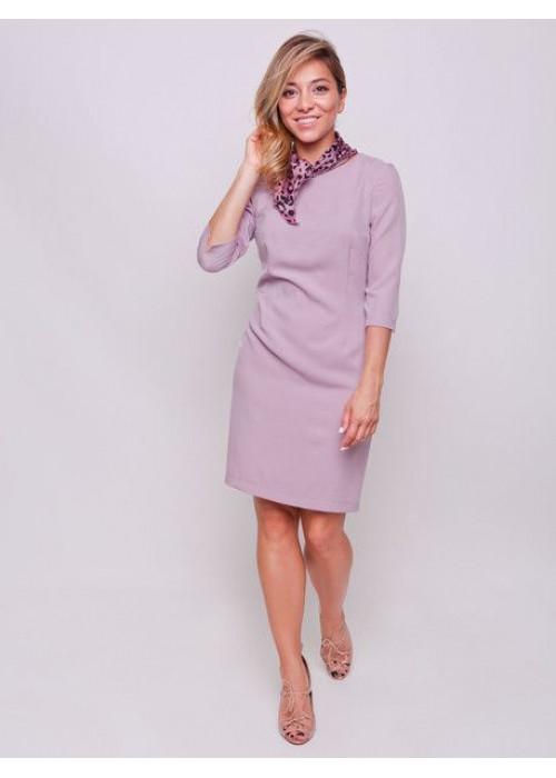 Базовое платье-футляр цвета припыленная роза