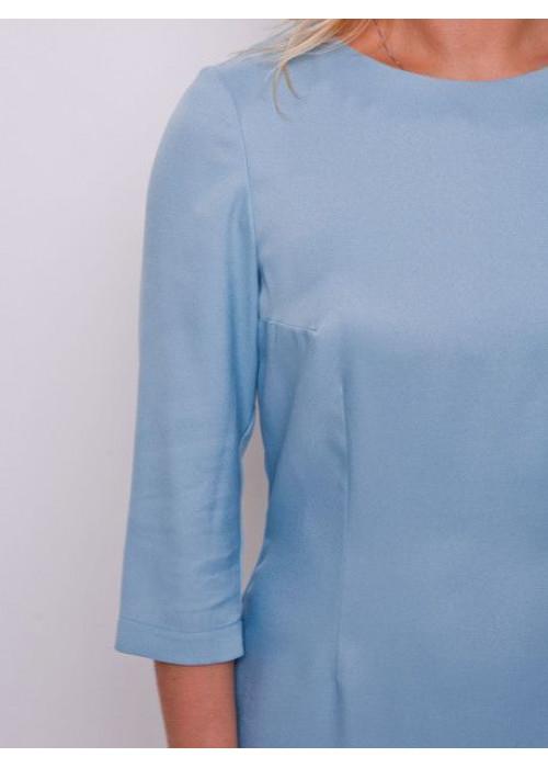 Базовое платье-футляр сизого цвета
