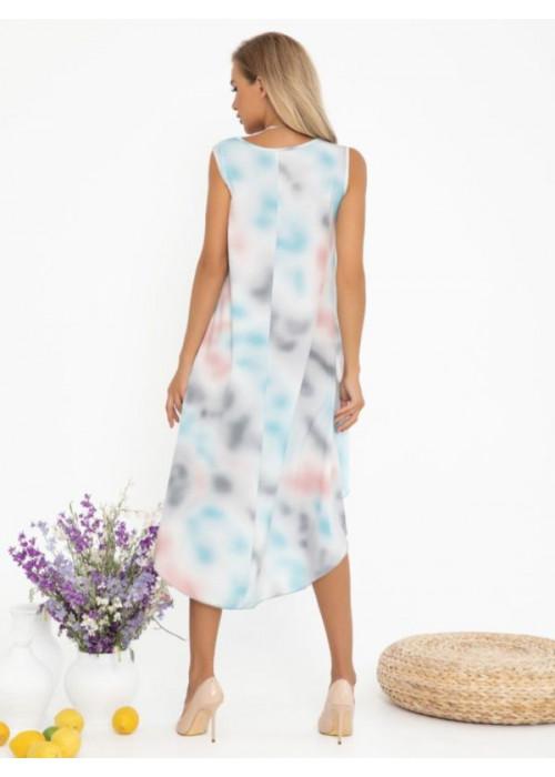Акварельное платье асимметричного кроя