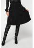 Трикотажная плиссированная юбка миди с нитью люрекса