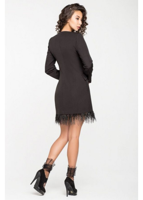 Двубортное платье-жакет на трикотажной подкладке