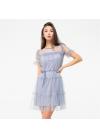 Легкое нарядное платье из сетки на трикотажной подкладке