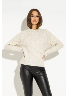 Удобный свитер с рукавом реглан свободного кроя