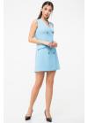 Двубортное платье -жилет приталенного силуэта