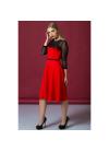 Стильное платье из трикотажа, сетки и кружева