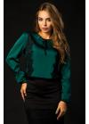 Блуза из шелка с французским кружевом