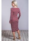Стильное платье из теплого трикотажа