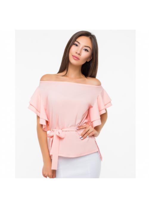 Нарядная блуза с поясом