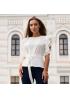 Блуза с поясом из тонкой шелковистой эластичной ткани