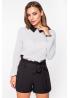 Блуза из шифона с контрастным воротничком