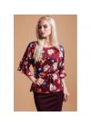 Шелковая блуза свободного кроя с поясом