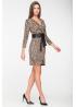Платье из трикотажа, пояс из эко-кожи на замше