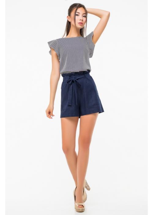 Блуза из стрейчевой шелковистой ткани
