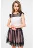 Блуза из шелка сетки и фатина