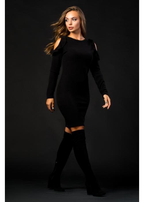 Платье прилегающего силуэта из трикотажа ангоры