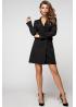 Двубортное платье-жакет из костюмной ткани чёрного цвета