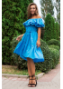 Легкое летнее платье с воланами