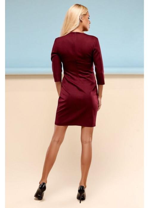 Классическое платье футляр винного цвета