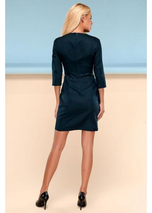 Классическое платье футляр изумрудного цвета