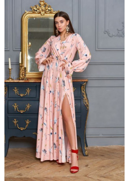 Воздушное весеннее платье макси с красивым принтом