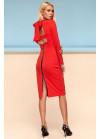 Шикарное платье футляр миди красного цвета