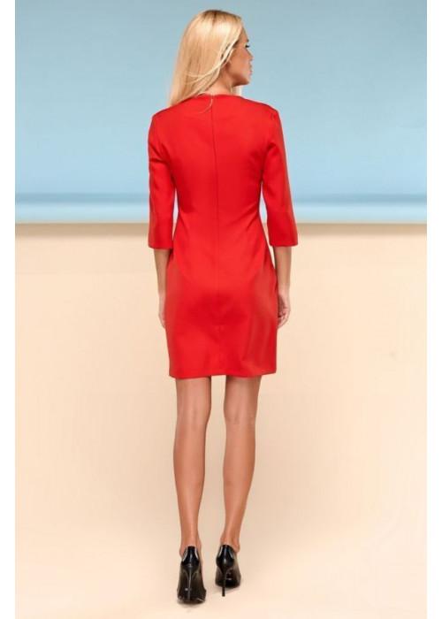 Классическое платье футляр красного цвета