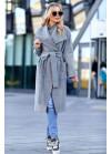 Облегченное пальто без подкладки серое