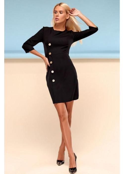 Классическое платье футляр черного цвета